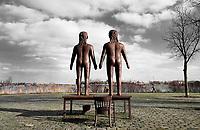 Nederland  Amsterdam -  2020.  Sporenburg.  Beeld van Mark Manders.    Foto Berlinda van Dam / Hollandse Hoogte