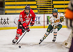 25 November 2016: Saint Cloud State Huskie Defender Christa Moody, a Senior from Battle Creek, MI, in action against the University of Vermont Catamounts at Gutterson Fieldhouse in Burlington, Vermont. The Lady Cats defeated the Huskies 5-1 to take the first game of the 2016 Windjammer Classic Tournament. Mandatory Credit: Ed Wolfstein Photo *** RAW (NEF) Image File Available ***