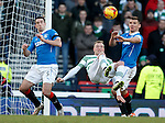 John Guidetti tries an overhead kick between Lee Wallace and Lee McCulloch