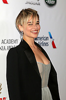 LOS ANGELES - OCT 26:  Emilia Clarke at the 2018 British Academy Britannia Awards at the Beverly Hilton Hotel on October 26, 2018 in Beverly Hills, CA