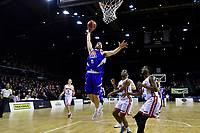 Saints&rsquo; Jordan Ngtai in action during the NBL - Cigna Saints v Canterbury Rams at TSB Arena, Wellington, New Zealand on Tuesday 3 July 2018.<br /> Photo by Masanori Udagawa. <br /> www.photowellington.photoshelter.com
