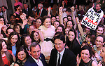 Kaithlin Corcoran, Presentation Secondary School Tralee, is congratulated by friends and Jerry Kennelly, Judge and Noel Spillane, South Kerry Development  Partnership, after she was announced as overall winner of theYoung Entrepreneur Programme at The  Malton Hotel  Killarney on Thursday night. Picture: Eamonn Keogh (MacMonagle, Killarney)