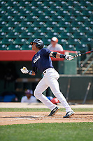 Noelvi Marte (7) bats during the Dominican Prospect League Elite Underclass International Series, powered by Baseball Factory, on July 31, 2017 at Silver Cross Field in Joliet, Illinois.  (Mike Janes/Four Seam Images)
