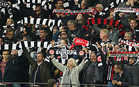 Fans von Eintracht Frankfurt - 24.10.2019:  Eintracht Frankfurt vs. Standard Lüttich, UEFA Europa League, Gruppenphase, Commerzbank Arena<br /> DISCLAIMER: DFL regulations prohibit any use of photographs as image sequences and/or quasi-video.