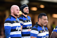 Luke Charteris of Bath Rugby looks on. Aviva Premiership match, between Bath Rugby and Harlequins on November 25, 2017 at the Recreation Ground in Bath, England. Photo by: Patrick Khachfe / Onside Images