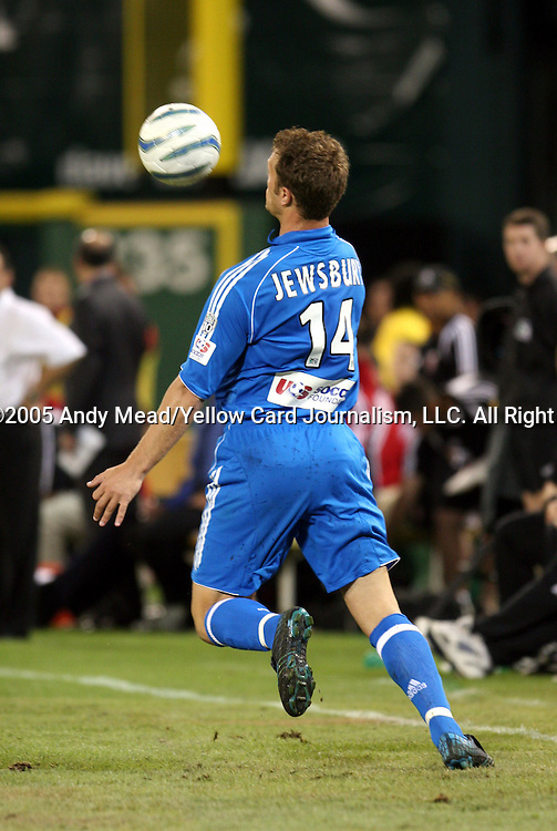 21 May 2005: Jack Jewsbury. DC United defeated the Kansas City Wizards 3-2 at RFK Stadium in Washington, DC in a regular season Major League Soccer game. . .