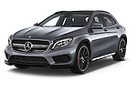 2015 Mercedes Benz GLA-KLASSE AMG 5 Door SUV Angular Front stock photos of front three quarter view