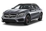 2015 Mercedes Benz GLA-KLASSE AMG 5 Door SUV Angular Front stock photos of front three quarter view