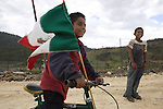 Triqui Native children play around in the Yosoyuxi village, in the Triqui region of Oaxaca, November 18, 2005. The political violence has been increased by the paramilitary groups like UBISORT in the Triqui region, where they ambushed an humanitarian caravan and killing two people on APril 27, 2010.  Photo by Heriberto Rodriguez