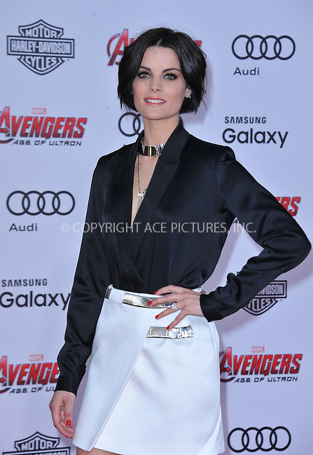 WWW.ACEPIXS.COM<br /> <br /> April 13 2015, LA<br /> <br /> Jaimie Alexander arriving at the Premiere Of Marvel's 'Avengers: Age Of Ultron' at the Dolby Theatre on April 13, 2015 in Hollywood, California.<br /> <br /> <br /> By Line: Peter West/ACE Pictures<br /> <br /> <br /> ACE Pictures, Inc.<br /> tel: 646 769 0430<br /> Email: info@acepixs.com<br /> www.acepixs.com
