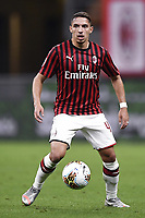 Ismael Bennacer of AC Milan during the Serie A football match between AC Milan and Bologna FC at stadio Giuseppe Meazza in Milano ( Italy ), July 18th, 2020. Play resumes behind closed doors following the outbreak of the coronavirus disease. <br /> Photo Image Sport / Insidefoto