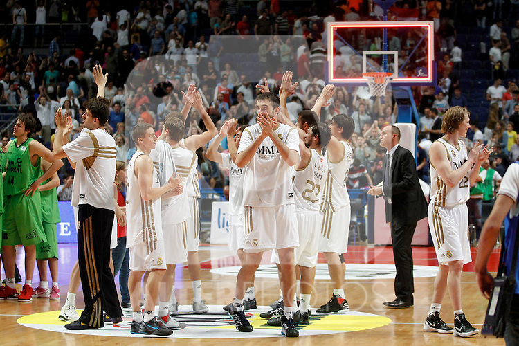 Real Madrid's players during a playoff semifinal match of La Liga Endesa. May 27, 2012. .(ALTERPHOTOS/Alconada) ..