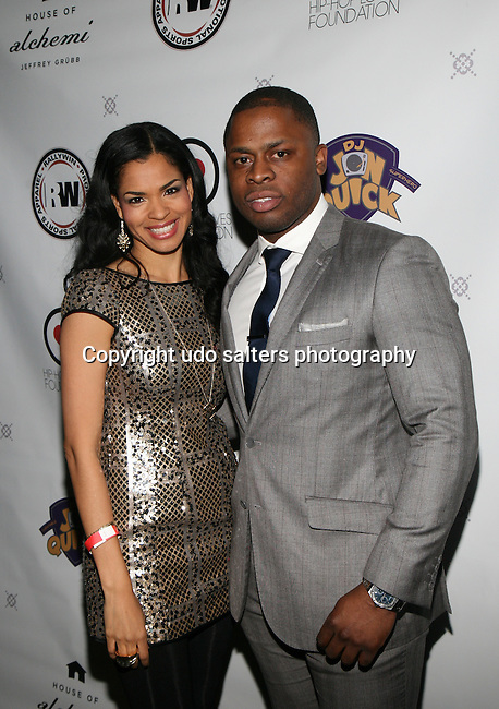 Jerrell and Honoree Amber Anderson at DJ Jon Quick's 5th Annual Beauty and the Beat: Heroines of Excellence Awards Honoring AMBRE ANDERSON, DR. MEENA SINGH,<br />