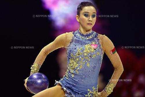 Liubou Cherkashyna (BLR),.SEPTEMBER 30, 2012 - Rhythmic Gymnastics : AEON CUP 2012 Worldwide R.G. Club Championships at 1st Yoyogi Gymnasium, Tokyo, Japan. (Photo by Jun Tsukida/AFLO SPORT) [0003]