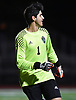 Kevin Fernandes #1, Carle Place goalie, reacts after his team's win in penalty picks (2-1) over Center Moriches in the varsity boys soccer Class B Long Island Championship at Berner Middle School in Massapequa on Tuesday, Oct. 30, 2018.