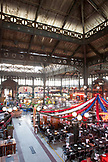 Chile, Santiago, Interior of Central Market n downtown Santiago