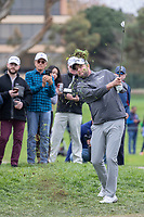26th January 2020, Torrey Pines, La Jolla, San Diego, CA USA;  Marc Leishman hits out of trouble during the final round of the Farmers Insurance Open at Torrey Pines Golf Club on January 26, 2020 in La Jolla, California.