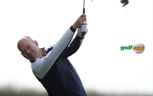 Jimmy Bolger (Kilkenny Golf Club) on the 8th tee during Round 1 of the 104th Irish PGA Championship at Adare Manor Golf Club on Thursday 2nd October 2014.<br /> Picture:  Thos Caffrey / www.golffile.ie