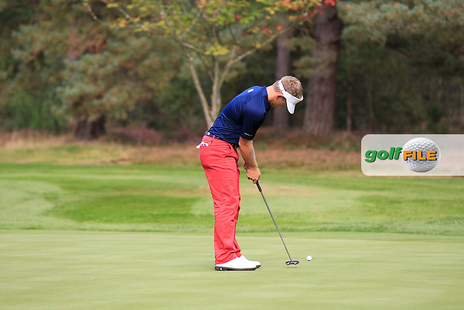Brad Dalke (USA) during the Mixed Fourballs of the  2014 JUNIOR RYDER CUP at the Blairgowrie Golf Club, Perthshire, Scotland. Picture:  Thos Caffrey / www.golffile.ie