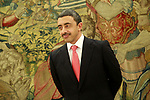 Sheikh Abdullah Bin Zayed al Nahyan, Minister of Foreign Affairs and International Cooperation of the State of the United Arab Emirates during the Audience with the King Felipe VI of Spain. January 29,2018. (ALTERPHOTOS/Acero)