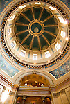 Minnesota, Twin Cities, Minneapolis-Saint Paul: Interior of the State Capitol Building in St. Paul, a large dome made of white marble..Photo mnqual317-75313..Photo copyright Lee Foster, www.fostertravel.com, 510-549-2202, lee@fostertravel.com.