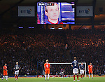 George Burley looks out over Hampden as Scotland go behind to Holland