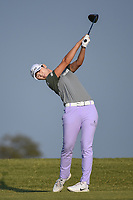 Sung Hyun Park (KOR) watches her tee shot on 2 during the round 3 of the Volunteers of America Texas Classic, the Old American Golf Club, The Colony, Texas, USA. 10/5/2019.<br /> Picture: Golffile   Ken Murray<br /> <br /> <br /> All photo usage must carry mandatory copyright credit (© Golffile   Ken Murray)