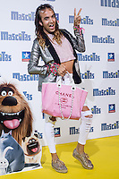 Spanish influencer Aless Gibaja during the premiere of  Mascotas at Kinepolis cinema in Madrid. July 21, 2016. (ALTERPHOTOS/Rodrigo Jimenez) /NORTEPHOTO.COM