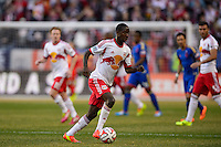Bradley Wright-Phillips (99) of the New York Red Bulls. The New York Red Bulls and the Colorado Rapids played to a 1-1 tie during a Major League Soccer (MLS) match at Red Bull Arena in Harrison, NJ, on March 15, 2014.