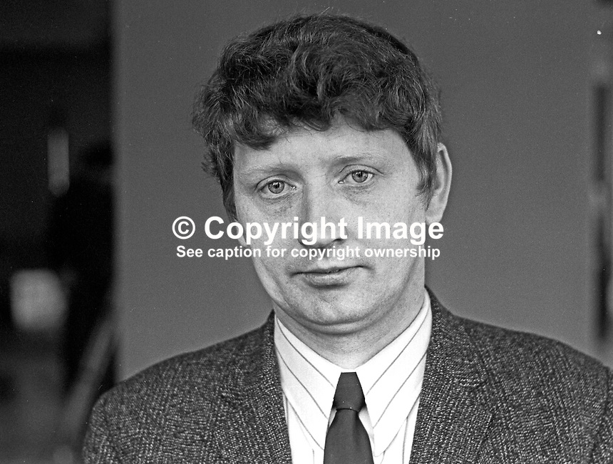 Gerard O'Hare, Republican Labour Party, candidate, Larkfield Constituency, N Ireland General Election, February 1969. 196902000042<br />