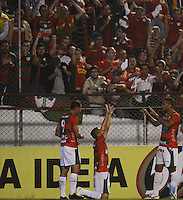 SAO PAULO SP, 11.09.2013 - Portuguesa X Vasco da Gama -  Correa comemora primeiro gol da Portuguesa  durante partida contra o Vasco da Gama valida pelo campeonato brasileiro de 2013 no Estadio do Caninde em  Sao Paulo, nesta quarta , 11. (FOTO: ALAN MORICI / BRAZIL PHOTO PRESS).