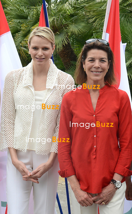 Princess Caroline and Charlène Wittstock presented the awards to young people from the NBFA College, including to Alexandra Of Hanovre, the daughter of Princess Caroline ( the school of the daughter of Princess Caroline ) during an olympic day organized by the National Education and Monegasque Olympic Committee..Monaco, June 20, 2012. Exclusive photos.