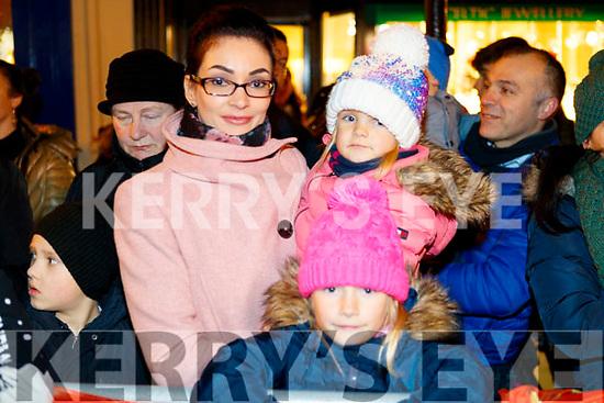 Asta, Emelia and Leja Dimaitiene, enjoying the festive spirit at the Santa Parade in Killarney on Saturday evening last.