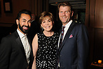Fady Armanious, Hallie Vanderhider and Bill Baldwin at the Recipe for Success' Delicious Alchemy Dinner at the home of Becca Cason Thrash Wednesday April 19,2017.(Dave Rossman Photo)