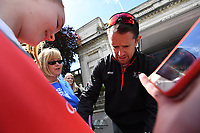Picture by Simon Wilkinson/SWpix.com 13/05/2018 - Cycling HSBC UK Let's Ride Cardiff - Shane Williams,Lewis Oliva, Julie Harrington, Warren Lewis