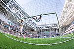 Stockholm 2014-04-27 Fotboll Allsvenskan Djurg&aring;rdens IF - IF Brommapojkarna :  <br /> Djurg&aring;rdens Andreas Johansson jublar och h&auml;nger i ribban efter att Djurg&aring;rdens Aleksandar Prijovic gjort 3-2 f&ouml;r Djurg&aring;rden<br /> (Foto: Kenta J&ouml;nsson) Nyckelord:  Djurg&aring;rden DIF Tele2 Arena Brommapojkarna BP jubel gl&auml;dje lycka glad happy