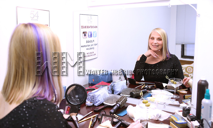 "Roslyn Kind backstage before performing her new show ""It's Been a While""  at 54 Below on April 6, 2014 in New York City."