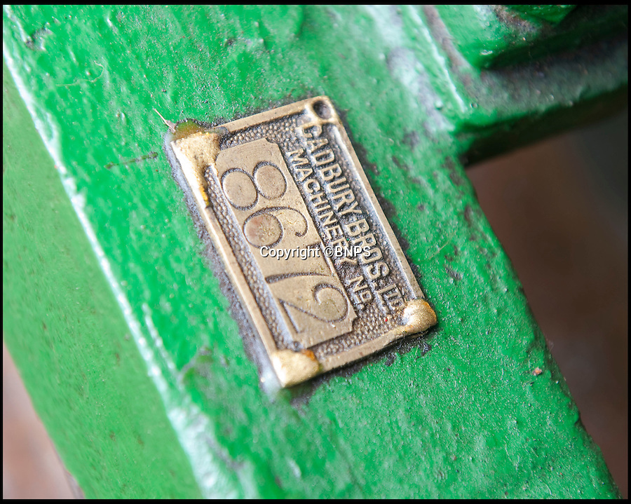 BNPS.co.uk (01202 558833)<br /> Pic: PhilYeomans/BNPS.co.uk<br /> <br /> Lawnmowing aristocracy...<br /> <br /> Cadbury's plate.<br /> <br /> The worlds first powered mower has taken to the grass once more after an exhaustive restoration by lawnmower nut Andrew Hall from Somerset.<br /> <br /> Forerunner of all the machines that have graced British lawns on sunday afternoons through the decades since, This 1902 Ransome 3hp is a historic survivor from the Edwardian age when chauffers were given the task of grooming their masters lawns and the new fangled machines cost as much as a house.