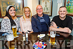 Chloe Smith, Lorraine Healy, John Tobin and Paudi Healy enjoying the evening in the Brogue Inn on Sunday.