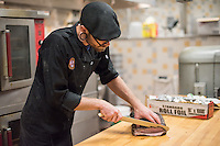 Minneapolis Commercial Food Photography of Tiffin Man Smoked Barbecue sandwiches, smoked for 10 hours and cut fresh in house by our expert chefs.