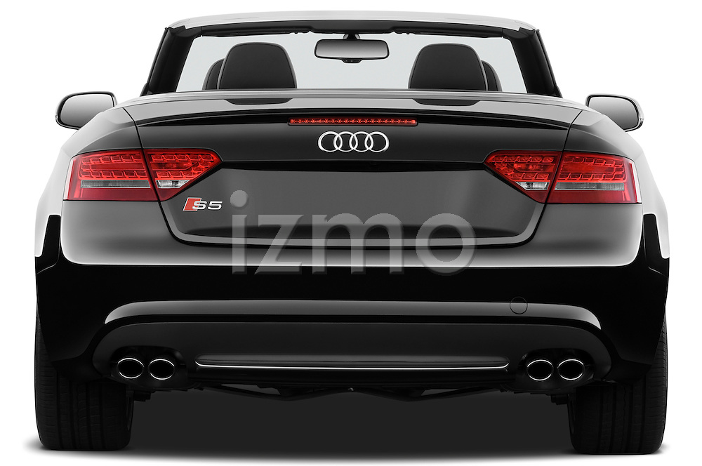 Straight rear view of a 2010 - 2011 Audi S5 Cabriolet