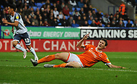 Blackpool's Matty Virtue rues a missed opportunity<br /> <br /> Photographer Kevin Barnes/CameraSport<br /> <br /> The EFL Sky Bet League One - Bolton Wanderers v Blackpool - Monday 7th October 2019 - University of Bolton Stadium - Bolton<br /> <br /> World Copyright © 2019 CameraSport. All rights reserved. 43 Linden Ave. Countesthorpe. Leicester. England. LE8 5PG - Tel: +44 (0) 116 277 4147 - admin@camerasport.com - www.camerasport.com