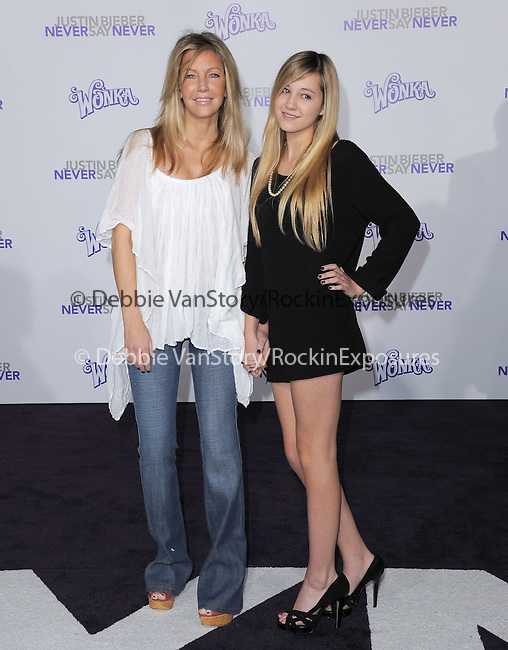 """Heather Locklear and Ava Sambora attends the Paramount Pictures' L.A. Premiere of """"JUSTIN BIEBER: NEVER SAY NEVER."""" held at The Nokia Theater Live in Los Angeles, California on February 08,2011                                                                               © 2010 DVS / Hollywood Press Agency"""