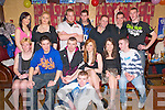 21st birthday Bash: Noel Quinn, seated third from left, celebrating his 21st birthday with family & friends at Speedie's Bar in Moyvane on Saturday night last.