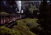 D&amp;RGW #484 K-36 and #487 K-36 excursion train arriving at Cumbres.<br /> D&amp;RGW  Cumbres, CO