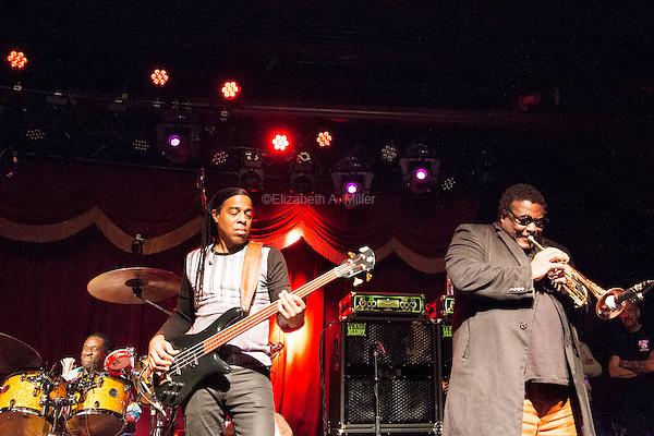 Living Colour performs at Brooklyn Bowl in Williamsburg, Brooklyn, New York with special guest Wallace Roney on February 14, 2015.