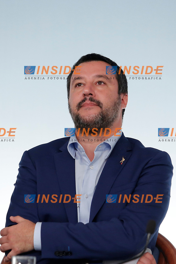 Matteo Salvini<br /> Roma 15/10/2018. Consiglio dei Ministri sulla Manovra Economica DEF.<br /> Rome October 15th 2018. Minister's Cabinet about the Economic and Financial Document.<br /> Foto Samantha Zucchi Insidefoto