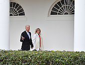 United States Vice President Joe Biden and Dr. Jill Biden leaves the White House for the final time as the nation prepares for the inauguration of President-elect Donald Trump on January 20, 2017 in Washington, D.C.  Trump becomes the 45th President of the United States.<br /> Credit: Kevin Dietsch / Pool via CNP