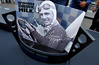 Verizon IndyCar Series<br /> Indianapolis 500 Drivers Meeting<br /> Indianapolis Motor Speedway, Indianapolis, IN USA<br /> Saturday 27 May 2017<br /> Winner's Drink Milk Trophy for Alexander Rossi, Andretti Herta Autosport with Curb-Agajanian Honda<br /> World Copyright: F. Peirce Williams
