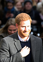 Prince Harry arrive at the Esplanade in front of the Edinburgh Castle in Edinburgh, on February 13, 2018, on their first official joint visit to Scotland Photo: Albert Nieboer / Netherlands OUT / Point De Vue Out Photo: Albert Nieboer/Royal Press Europe/RPE /MediaPunch ***FOR USA ONLY***